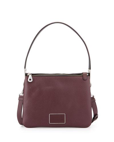 Ligero Leather Shoulder Bag, Cardamom Multi
