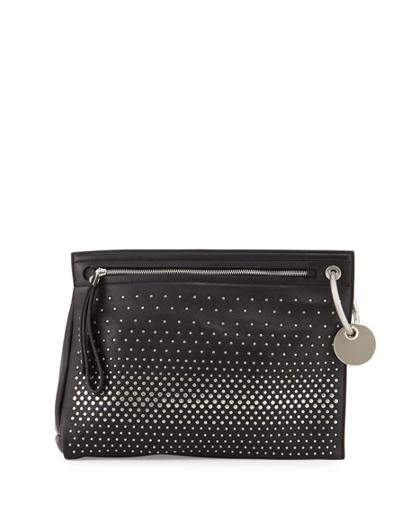 MARC by Marc Jacobs Prism Degrade Studded Clutch Bag, Black