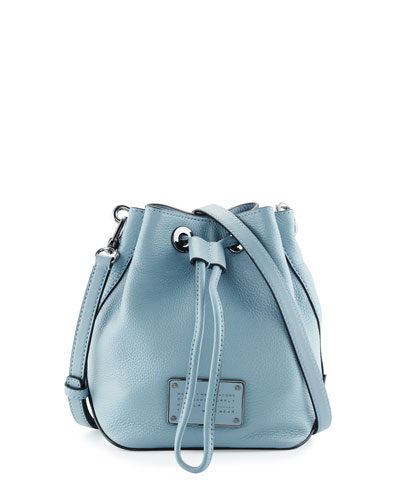 New Too Hot to Handle Bucket Bag, Ice Blue