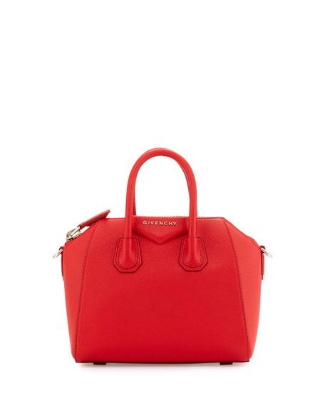 Antigona Mini Sugar Satchel Bag, Red