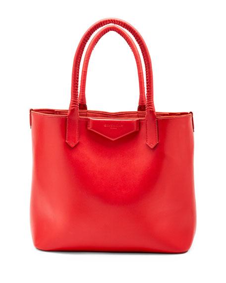 Givenchy Antigona Whipstitch-Handle Tote Bag, Red