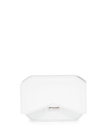 Givenchy Glossy Bow-Cut Clutch Bag, White