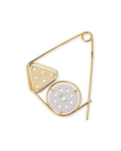 Meccano Double Pin for Handbag, Silver/Gold