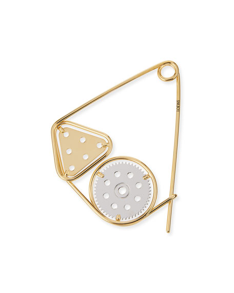 Meccano Double Pin for Handbag, Silver/Gold