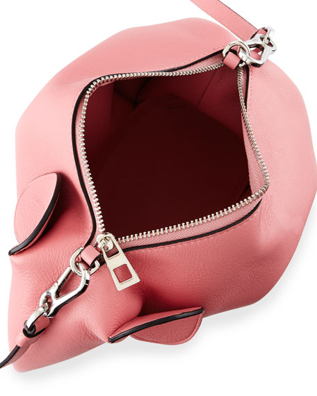 Leather Elephant Mini Bag, Pink