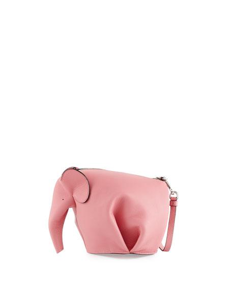 Loewe Leather Elephant Mini Bag, Pink