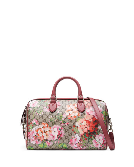 Image 1 of 5: Blooms GG Supreme Small Top-Handle Bag, Multi Rose