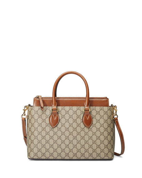 Gucci GG Supreme Tote Bag, Brown