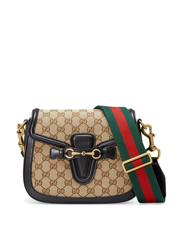 9d3f3955c44 Gucci Lady Web Medium Original GG Canvas Shoulder Bag