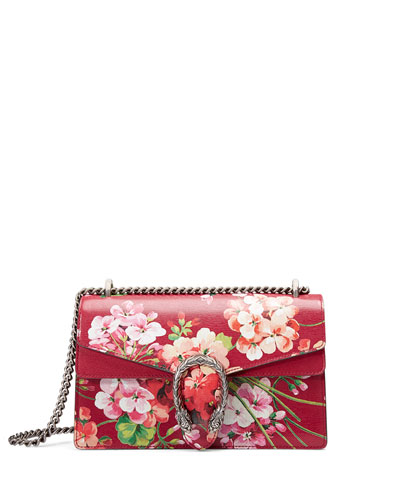 Dionysus Blooms Small Shoulder Bag, Red