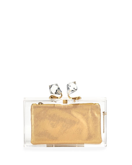 Paragon Pandora Clutch Bag & 3 Pouches, Transparent