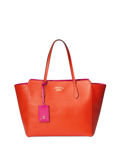 Gucci Gucci Swing Medium Tote Bag, Orange/Pink