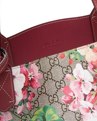 56d4c9957f37ea Gucci GG Blooms Medium Reversible Leather Tote Bag, Multicolor/Rose |  Neiman Marcus