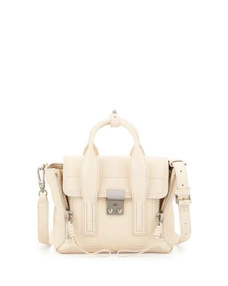 3.1 Phillip Lim Pashli Mini Leather Satchel Bag, Milk