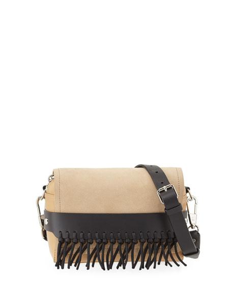 3.1 Phillip Lim Bianca Small Leather Crossbody Bag, Almond/Beige