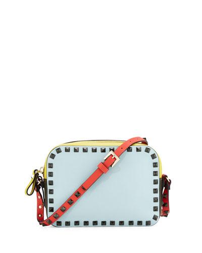 Rockstud Four-Color Camera Bag, Blue/Yellow/Orange/Green