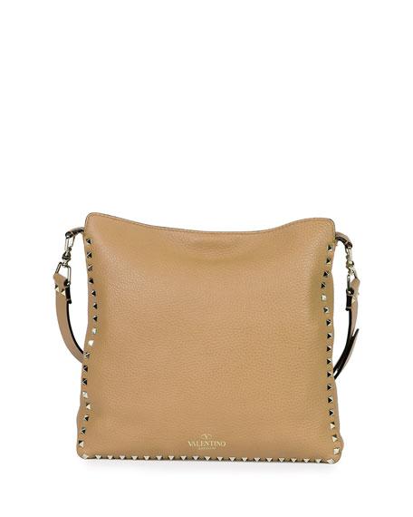 Rockstud Small Messenger Bag, Taupe