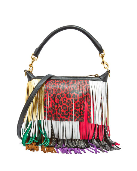 fake ysl lipstick - Saint Laurent Emmanuelle Small Leather Fringe Hobo Bag, Black ...