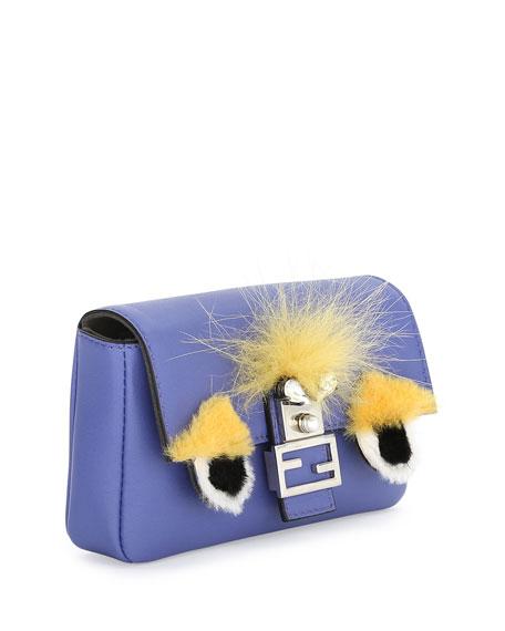 Baguette Micro Bag Bugs Crossbody Bag, Purple