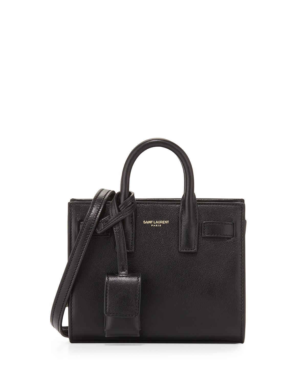 84a4ad79aa Saint Laurent Sac de Jour Toy Grain Leather Satchel Bag