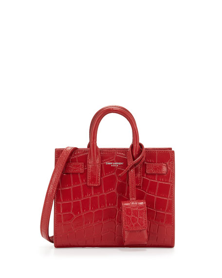 Saint Laurent Sac de Jour Toy Satchel Bag, Red