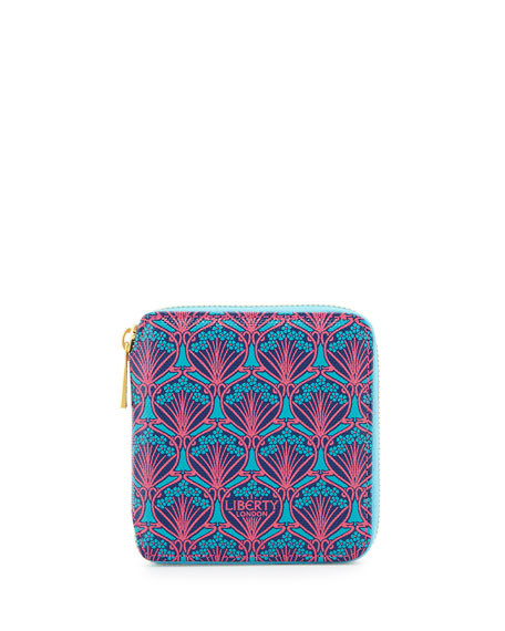 Liberty London Patch Iphis Small Square Zip Wallet, Multicolor