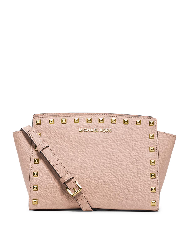85890c29a8d20d MICHAEL Michael Kors Selma Stud Medium Top-Zip Messenger Bag, Ballet ...