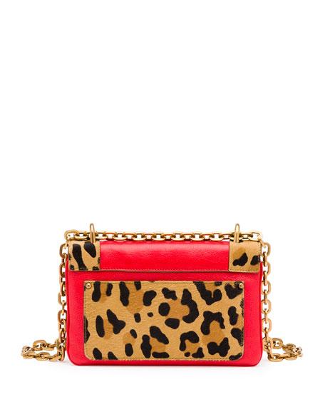 black prada diaper bag - Prada Calf Hair \u0026amp; Calfskin Chain Shoulder Bag, Red Orange Leopard ...