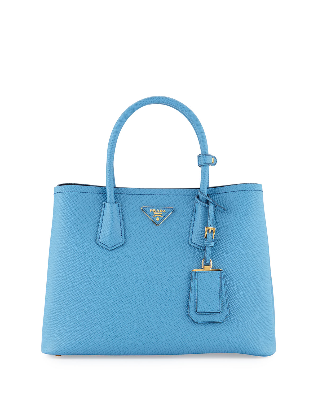 011b82e42e Prada Saffiano Cuir Double Small Tote Bag