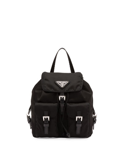 Vela Mini Crossbody Backpack Bag, Black (Nero)