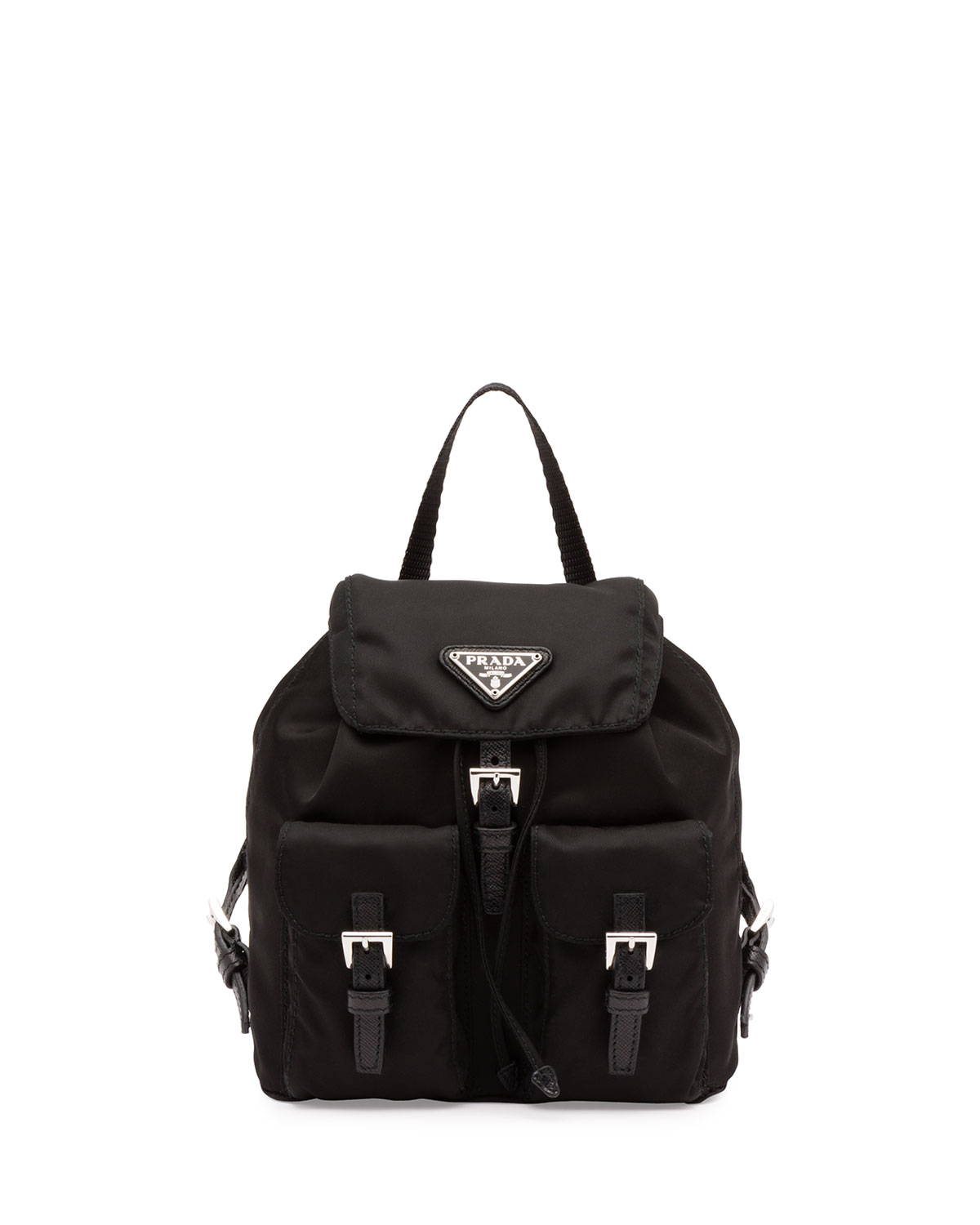 e16ec0ed9e17 Prada Vela Mini Crossbody Backpack Bag, Black (Nero) | Neiman Marcus