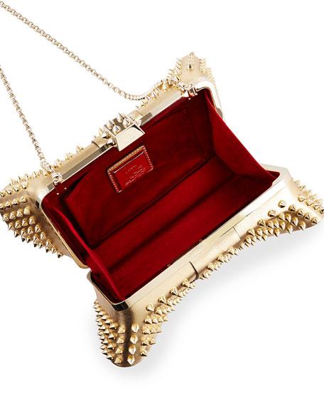 Grandotto Spike Clutch Bag, Gold/Black