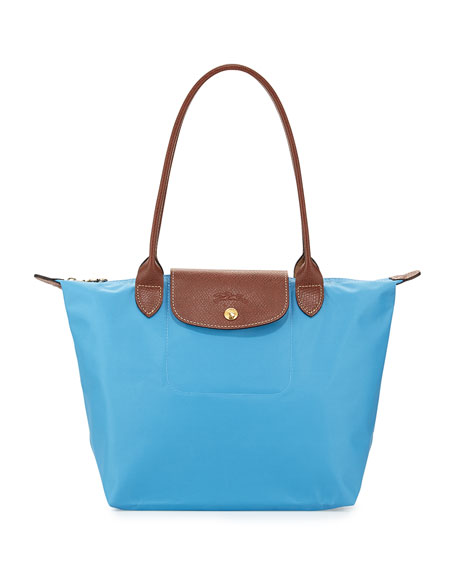 Longchamp Le Pliage Medium Shoulder Tote Bag, Cornflower