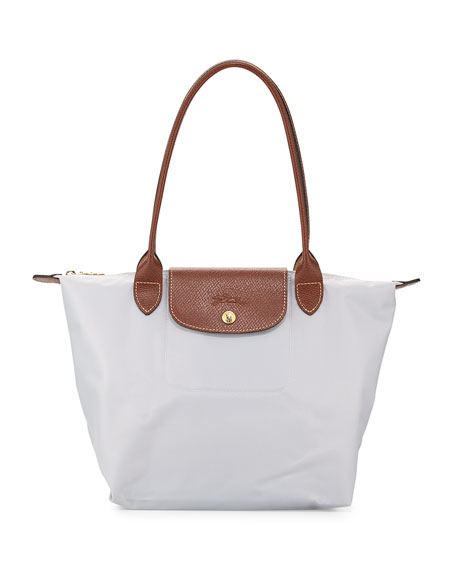 Longchamp Le Pliage Medium Shoulder Tote Bag, Pearl