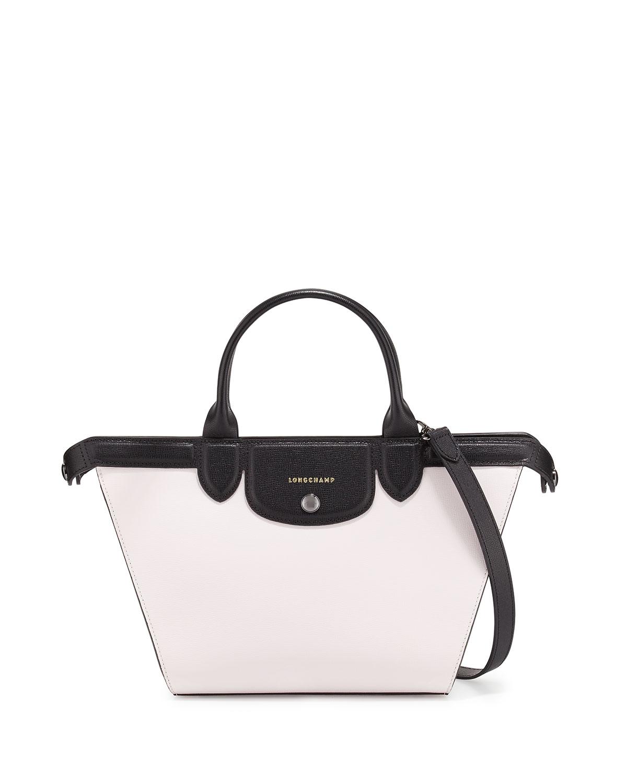 6b2034c2a066 Longchamp Le Pliage Heritage Medium Tricolor Satchel Bag