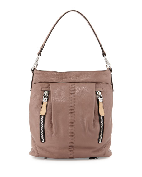 Oryany Marlene Leather Shoulder Bag, Mushroom