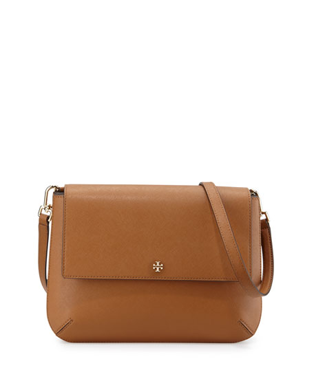Tory Burch Robinson Leather Messenger Bag, Tiger's Eye