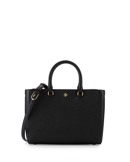 Tory Burch Robinson Small Zip Tote Bag, Black
