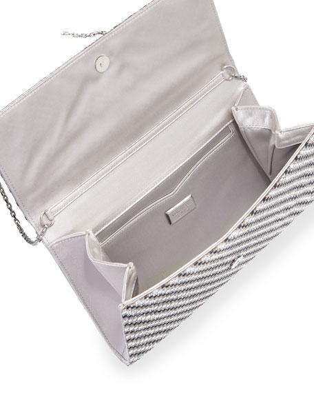 Manhattan Crystal Evening Clutch Bag, Jet/Rhinestone