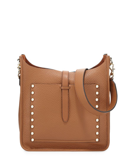 Rebecca Minkoff Unlined Leather Feed Bag, Almond