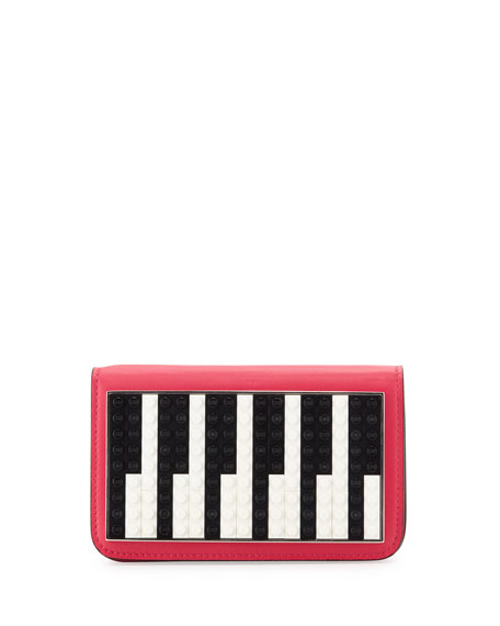 Les Petits JoueursJanis Micro Piano Leather Clutch Bag
