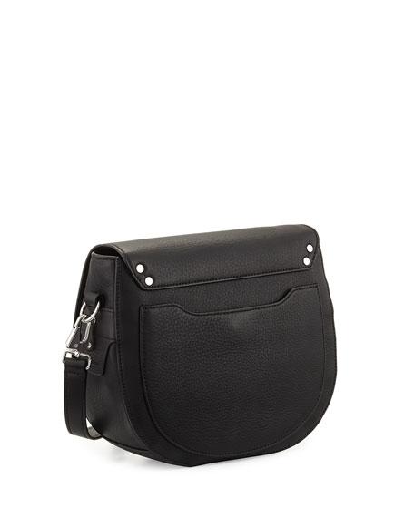 Rag & Bone Flight Leather Saddle Bag, Black