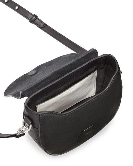 Rag & Bone Mini Flight Saddle Bag, Black