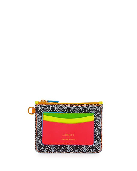 Liberty London Neon Iphis Printed Outside-Pocket Wallet