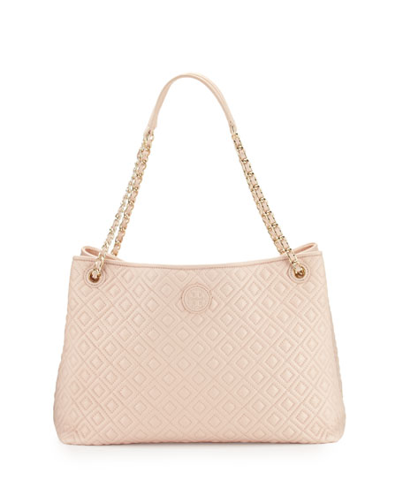 Tory Burch Marion Chain-Strap Shoulder Slouch Bag, Pale
