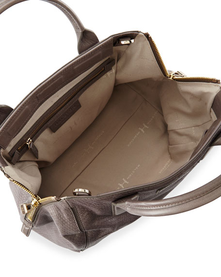 eae7c4be921d Halston Heritage Lizard-Embossed Leather Medium Satchel Bag