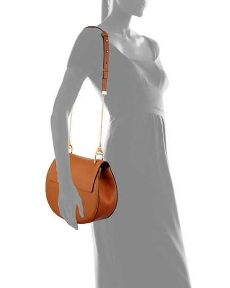 Drew Medium Grain Leather Saddle Bag