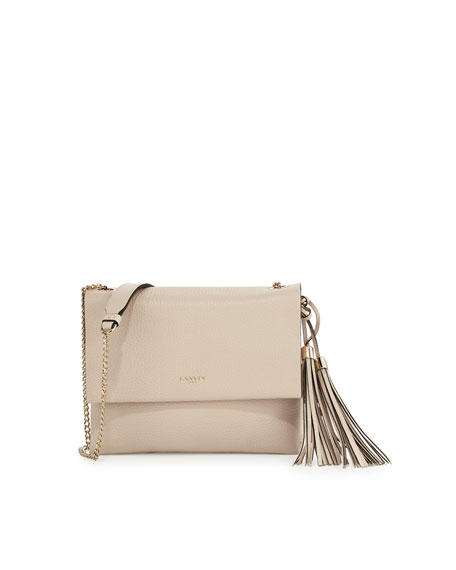 Sugar Mini Calf 2-Compartment Shoulder Bag, Ivory