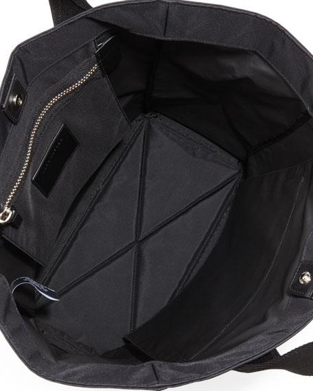 Nylon Biker North-South Tote Bag, Black