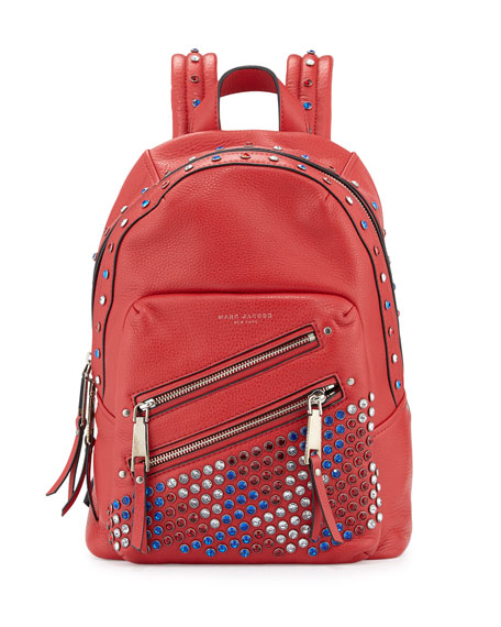 Marc Jacobs Pretty Young Thing Studded Leather Backpack, Brilliant Red